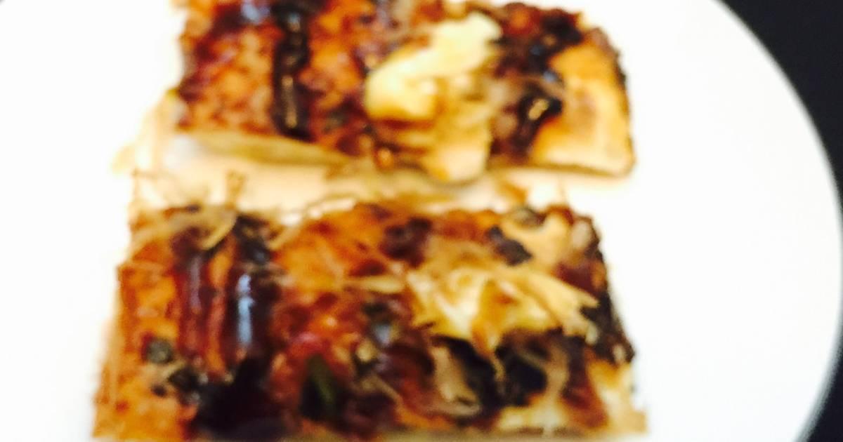 Bánh mì nướng muối ớt và cá ngừ bào