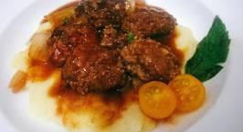 Hình ảnh món Bò băm viên sốt Teriyaki - bánh khoai tây nghiền