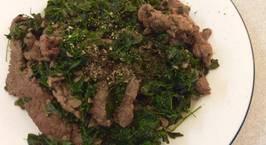 Hình ảnh món Thịt bò xào rau chùm ngây