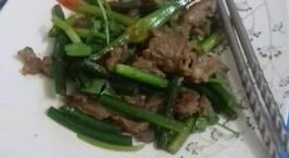 Hình ảnh món Thịt bò xào ngó tỏi