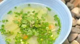 Hình ảnh món Canh Bầu Nấu Tôm Khô