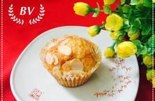 Muffin Cam rắc hạnh nhân