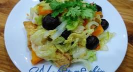 Hình ảnh món Bắp cải xào nấm hương