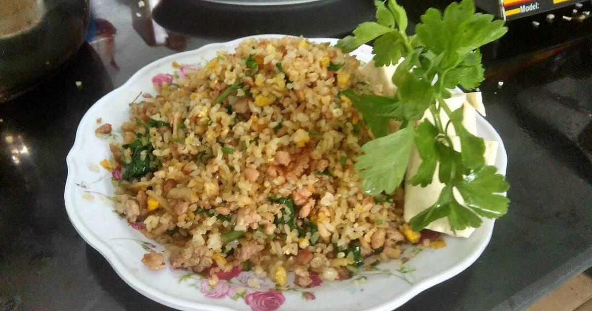 Cơm rang củ cải trắng + thịt băm và trứng ngon tuyệt vời lun hee