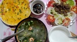 Hình ảnh món Bữa cơm gia đình đu đủ, đầy sắc màu đầu năm mới