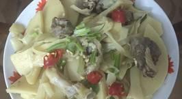 Hình ảnh món Măng tươi om thịt vịt