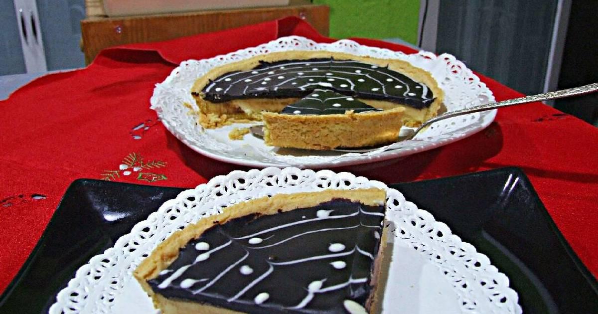 Bánh Tart trứng phomai với ganache chocolate vị cam