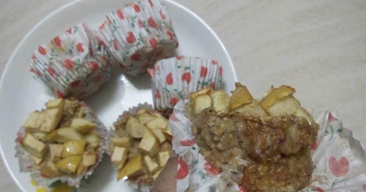 Bánh muffin Yến mạch, táo và chuối