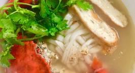 Hình ảnh món Bánh canh cua và cách làm sợi bánh canh từ bột lọc