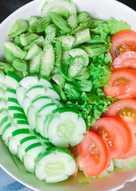#eatclean - Salad thập cẩm sốt tương mè
