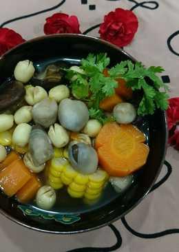 Canh nấm hạt sen chay