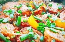 Khoai tây tẩm bột sốt tương cà chay