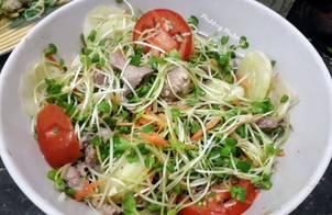Salad eatclean rau mầm