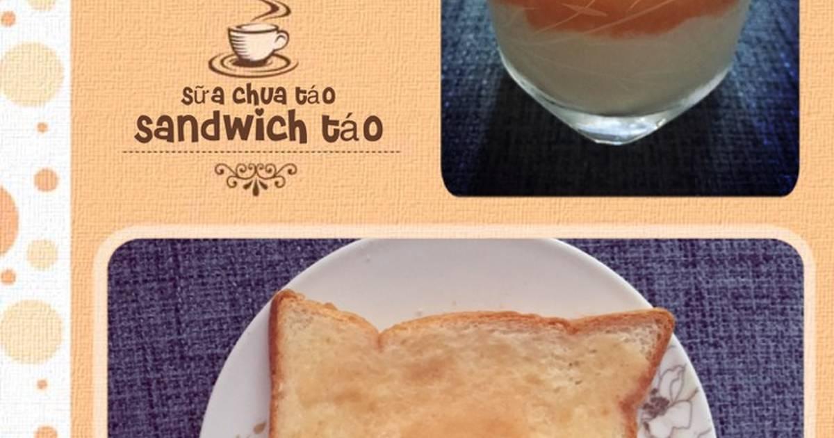 Sữa chua táo & sandwich mứt táo