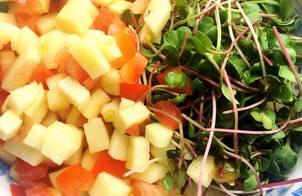 #eatclean - Salad rau mầm hoa quả thập cẩm
