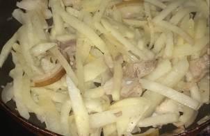 Thịt lợn mán xào củ đậu