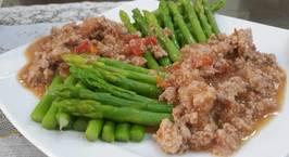 Hình ảnh món Măng tây sốt cà chua thịt băm