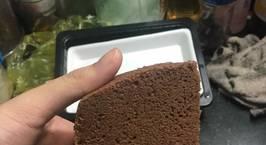 Hình ảnh món Cốt Gato Chocolate làm bằng nồi cơm điện (bông lan socola)