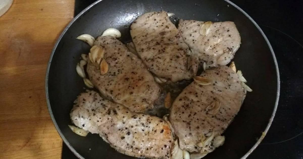 Thịt cốt lết rim tỏi
