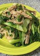 Bún xào thịt rau nhanh gọn đơn giản