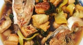 Hình ảnh món Cá hú kho dưa chua, nấm rơm, trứng cút, đậu hũ