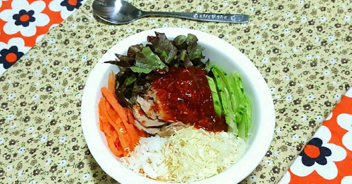 Cơm Trộn Cá Ngừ 참치야채비빔밥