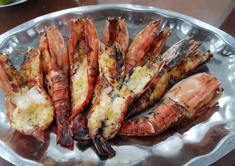 Tôm Càng Xanh Nướng Phô Mai recipe main photo