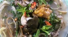 Hình ảnh món Canh chua cơm mẻ Ếch Hoa chuối