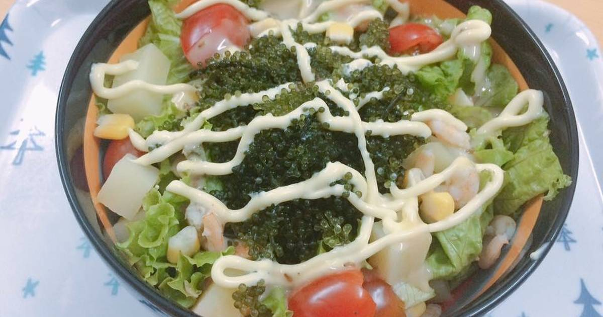 Salad rong nho hải sản ✨