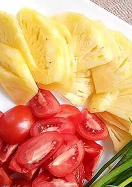 Sườn sốt hoa quả
