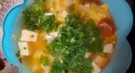 Hình ảnh món Canh cà chua trứng đậu phụ