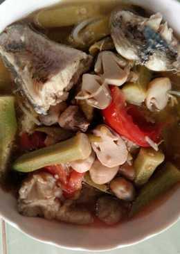 Canh chua cá lóc, nấm rơm