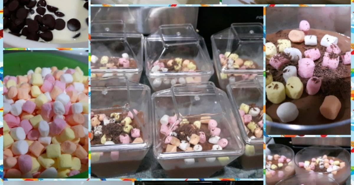 Chocolate mousse với mashmallow chỉ với 3 nguyên liệu