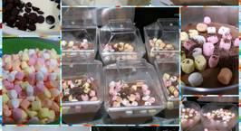 Hình ảnh món Chocolate mousse với mashmallow chỉ với 3 nguyên liệu
