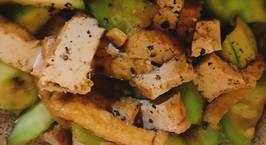 Hình ảnh món Mướp xào tàu đậu hủ (dã chiến)