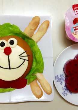 Hamburger Đoremon cho bé iu