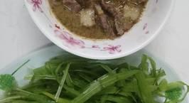 Hình ảnh món Rau hẹ nước chấm thịt kho mắm ruốc