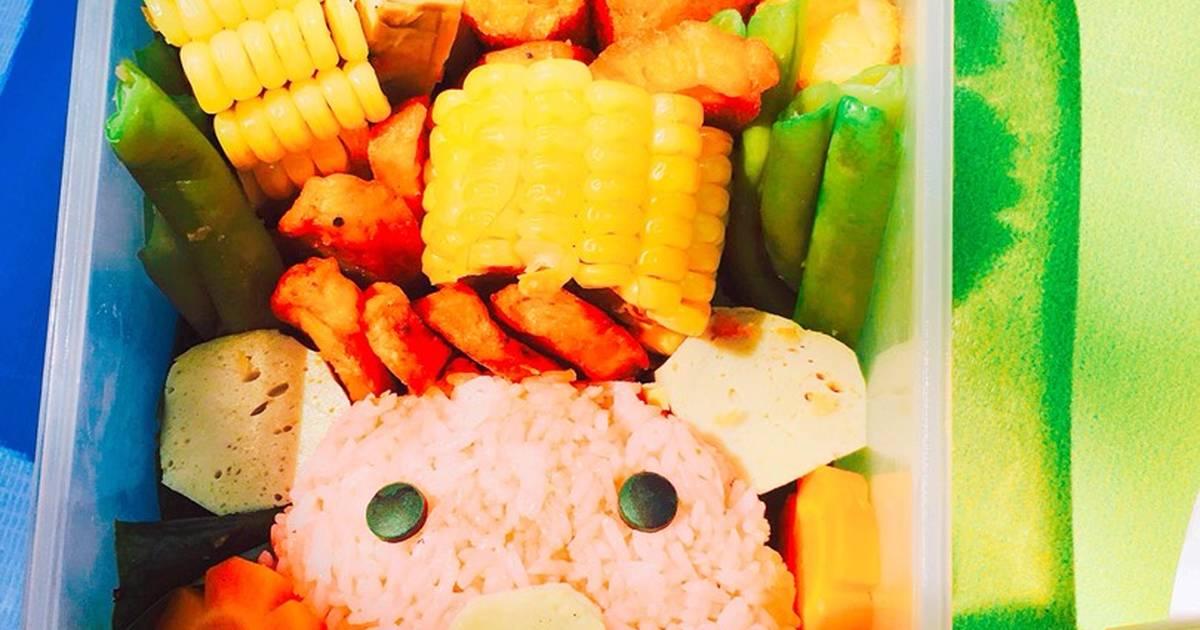 Lợn con đi picnic (Cơm Bento dành cho bé) (Part 1)