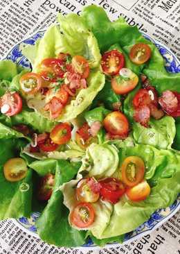 Salad Ba Rọi Hun Khói Dầu Olive Vị Basil