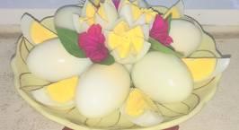 Hình ảnh món Bày trứng luộc dâng lễ