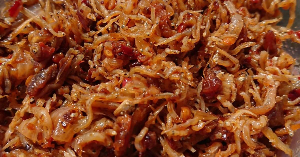 Cá cơm mờm rim sa tế tôm