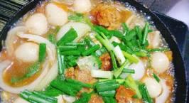 Hình ảnh món Thịt cá bọc trứng cút sốt cà chua hành tây