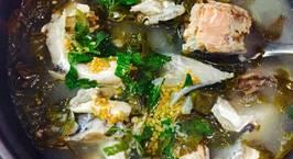 Hình ảnh món Lẩu đầu cá hồi nấu lá giang