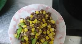 Hình ảnh món Bò băm xào ngô đậu