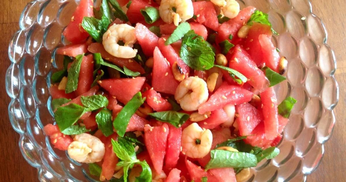 Salat dưa hấu tôm