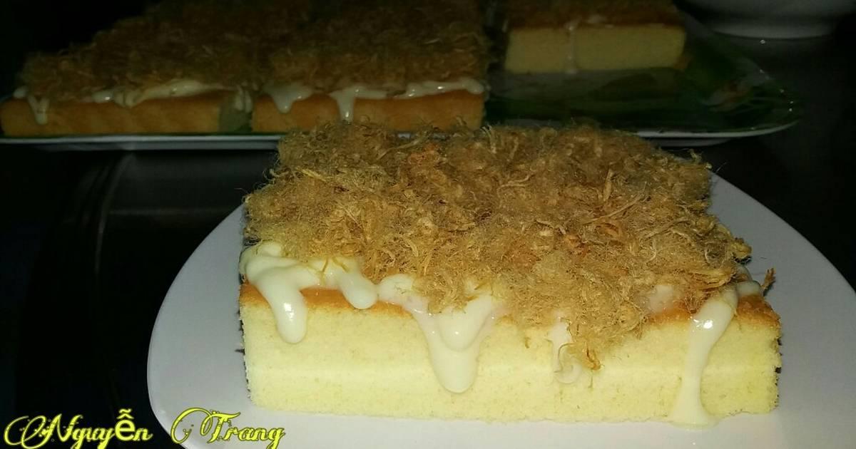 Bánh bông lan chà bông (trứng muối)