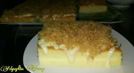 Hình ảnh món Bánh bông lan chà bông (trứng muối)
