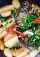 Cá nâu kho củ cải