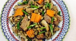 Hình ảnh món Bầu khô xào thịt vịt