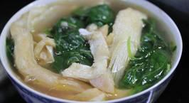Hình ảnh món Canh rau dền mồng tơi cá hồi